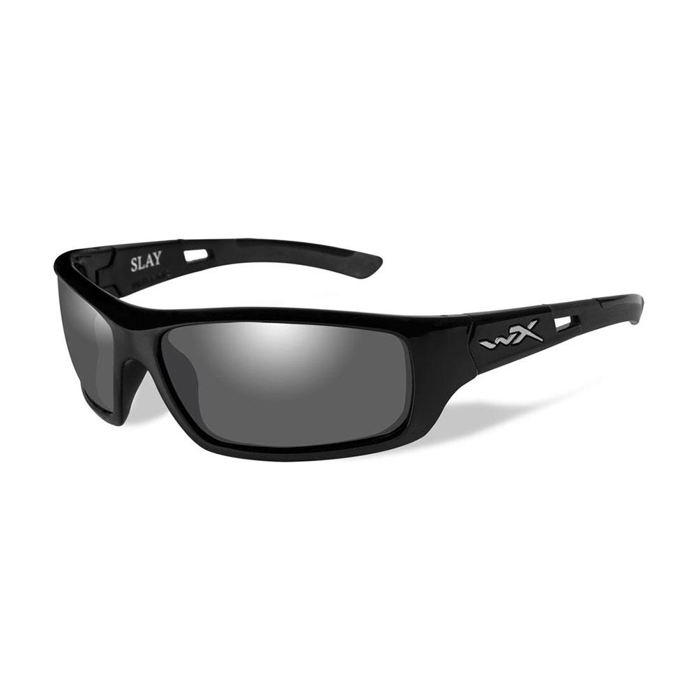 61bbd9ea0cf6 Wiley X SLAY Sunglasses, POLARIZED Smoke Grey Lens / Gloss Black Frame